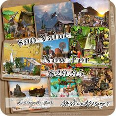 Digital Scrapbooking Kit Worldtraveler Pack (PU/S4H) by Mistica Designs Digital Scrapbooking Kit Worldtraveler Pack (PU/S4H) by Mistica Designs [md-worldtravelerpack] - $29.99 : Digidesignresort