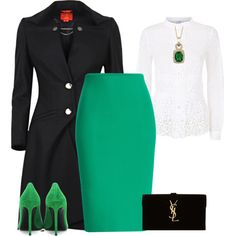 outfit 1805 by natalyag on Polyvore featuring Oscar de la Renta, Vivienne Westwood Red Label, Roland Mouret, Yves Saint Laurent and R.H. Macy's & Co.