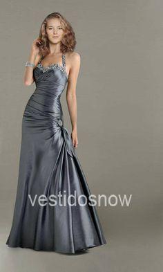 halter vestido de noche, sera este vestido que usare en la boda de mi hijo