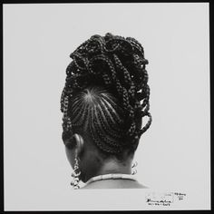 Hair is everything.... Over the course of his life photographer J. D. 'Okhai Ojeikere recorded almost a thousand hairstyles, each photographed using the same close range rear view perspective, which illustrated his belief that the styles were 'sculptures for a day'.