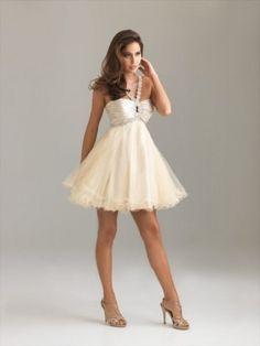 Front: Elegant A-line Halter Beading Sleeveless Short/Mini Tulle Dress