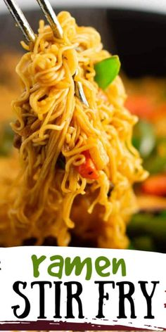 Ramen Noodle Recipes, Stir Fry Recipes, Cooking Recipes, Easy Ramen Recipes, Recipes With Mr Noodles, Stir Fry Using Ramen Noodles, Chinese Food Recipes, Fried Noodles Recipe, Yummy Noodles