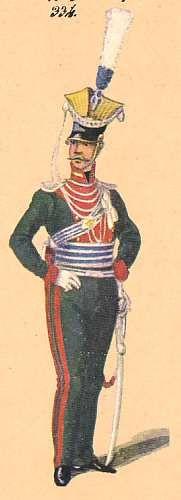 NAP- France: Bavaria: Lieutenant 1st Uhlan Regiment: 1814, by Johann Cantler.