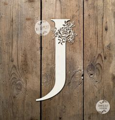 SALE Floral Letter 'J' SVG Pdf Design - Papercutting Vinyl Template Commercial Use - Papercut - nursery papercut - new baby papercut Origami, Paper Cut Design, How To Write Calligraphy, Paper Lace, Floral Letters, Letter J, Craft Work, Lettering Design, Vinyl