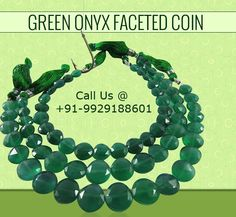 Green Onyx Faceted Coin