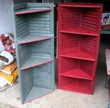 Shutter shelves