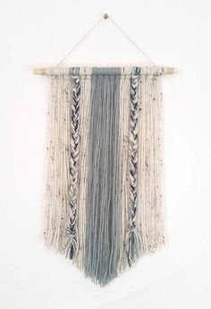 This handmade yarn wall hanging is for the simple bohemian! With soft contrasting colors, it is sure to add that modern neutrality into your home. ~Product comes in 2 sizes: by by ~Colors: You can choose the desired color through customization, just Yarn Wall Art, Yarn Wall Hanging, Diy Wall Art, Wall Decor, Wall Hangings, Hanging Fabric, Dac Diy, Handmade Wall Hanging, Crafty Craft