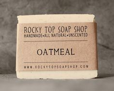Oatmeal Soap from Rocky Top Soap Shop