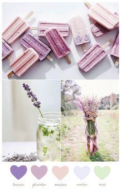 Color Palette: Gladiolus + Nimbus