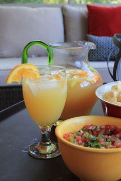 Summer Sipping:  Orange Sangria | http://www.domesticcharm.com/summer-sipping-orange-sangria/