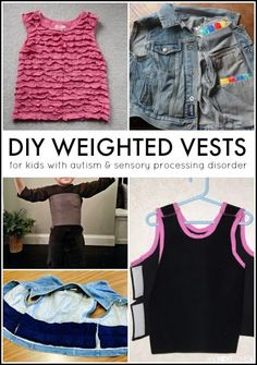 How to make a DIY weighted vest for kids #sensoryhacks #autism #sensory #DIYweightedvests #weightedvests #weightedvest