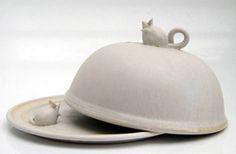 Mouse cheese dish - Bandon Pottery, Ireland
