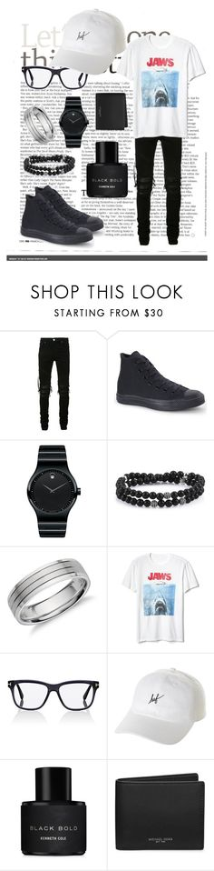 """Untitled #25"" by evelina-thr on Polyvore featuring AMIRI, Converse, Movado, Blue Nile, Gap, Tom Ford, HUF, Kenneth Cole, Michael Kors and men's fashion"