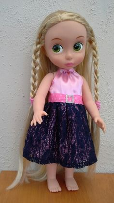 DK's Disney animator Rapunzel doll in handmade party dress No.2