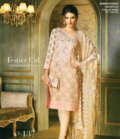 Gul Ahmed Chantilly de Chiffon festive collection CT-137