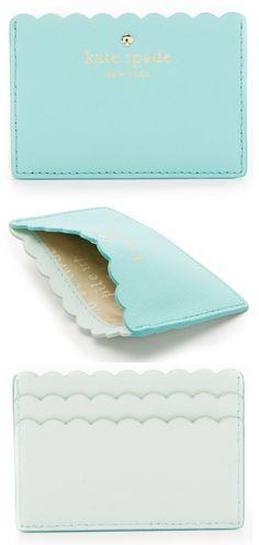 Kate Spade New York Aqua Card Holder