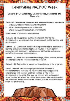 Home :: Resource Type :: Classroom Decorations :: Celebrating NAIDOC Week In your Early Education Classroom Aboriginal Art For Kids, Aboriginal Education, Indigenous Education, Aboriginal Culture, Naidoc Week Activities, Childcare Activities, Childcare Rooms, Eylf Learning Outcomes, Learning Stories