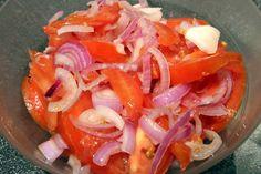 Ecuadorian food Salsa, Curtido, Foodblogger, Vegetable Recipes, Shrimp, Meat, Vegetables, Ethnic Recipes, Onion