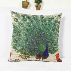 6.25$  Buy here - http://di6h0.justgood.pw/go.php?t=151559701 - Classical Peacock  Pattern Home Hold  Decorative Pillow Case 6.25$