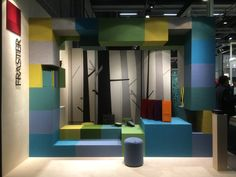 Fraster felt used on the stand at Stockholm Furniture Fair