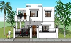 PRICE: Plan Purchase - P Sets of Blueprint signed & sealed . Modern Bungalow, Bungalow House Design, Cottage Design, Modern House Design, Duplex House, 2 Storey House Design, Two Storey House, Home Design Floor Plans, House Floor Plans