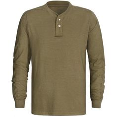 $28.50  Sierra Trading Post   Gramicci Laurel Canyon Henley Shirt - UPF 20, Hemp-Organic Cotton, Long Sleeve (For Men)
