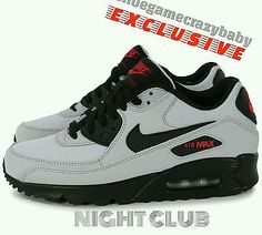 8a2d2f33c5 NIKE AIR MAX 90 ESSENTIAL - WOLF GREY/BLACK/UNIVERSITY RED NIGHT CLUB  size11.5