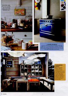 Primary blue 1908 range cooker from La Cornue www.lacornue.com Irish Kitchens July 2014