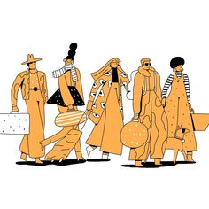 Airport Characters on Behance