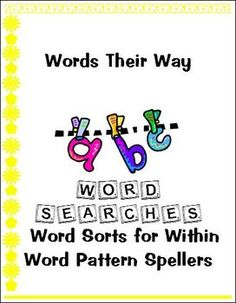 Word Searches for Words Their Way Within Word