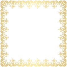 Deco Border Frame Transparent PNG Clip Art Image​ | Gallery Yopriceville - High-Quality Images and Transparent PNG Free Clipart