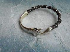 Unique gift idea  A homemade Brown braided leather bracelet ☺ for him or her by JHFWBeadsAndFindings