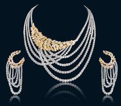 designer diamond necklace in India