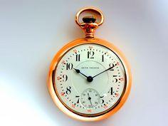 Mega Rare Antique Railroad 18s 21J Seth Thomas Gold Pocket Watch Serviced #Waltham