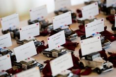 Escort cards for a police themed wedding.we don't even have to buy the cars… Car Themed Wedding, Wedding Humor, Wedding Pics, Wedding Themes, Wedding Table, Diy Wedding, Wedding Colors, Dream Wedding, Wedding Decorations