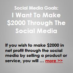 If you wish to make $2000 in profits through the social media by selling a product or service, you will need the following … more >> #SocialMediaMarketing #SocialMedia #SMM #SMO #SocialMarketing #Marketing #Sales