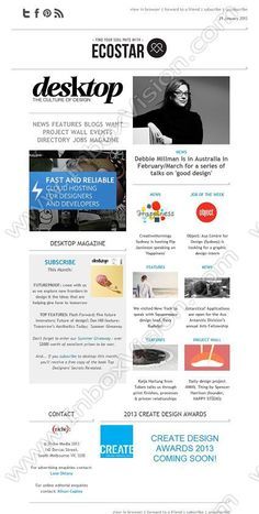 Email newsletter designs Newsletter Example, Email Newsletter Design, Newsletter Ideas, Web Design, Layout Design, Email Design Inspiration, Design Ideas, Debbie Millman, Responsive Email