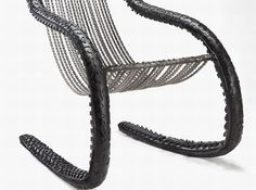 Chain rocker made of bicycle chains and tires