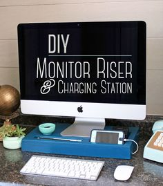 Easy to make for under $5! DIY monitor Riser and Charging station