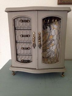 Refinished old jewelry box
