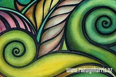 Waimarama - Koru art, landscapes, paintings, Aotearoa, New Zealand, koru, Maori,nature, patterns,Pacifica,land,fern, frond