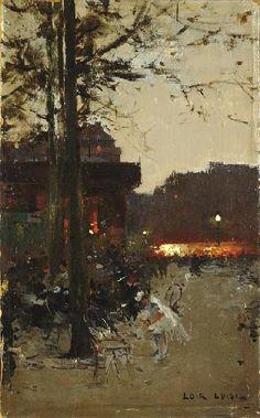 Paris by Evening/FRANÇOIS-JOSEPH LUIGI LOIR (1845-1916) Biography  Paris by Evening (France, 1800 - 1899)
