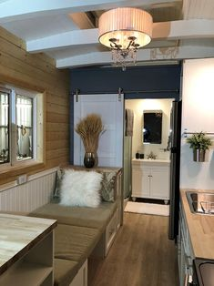 Award Winning Tiny House for sale on the Tiny House Marketplace. Contractor built NOAH certified THOW available for immediate delivery. Tiny Houses For Sale, Little Houses, Tiny House Movement, Small House Design, Tiny Living, Home Kitchens, Tiny Homes, Awards, Floor Plans