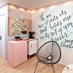 40 super ideas for wall art cafe decor Home Nail Salon, Nail Salon Decor, Beauty Salon Decor, Beauty Salon Interior, In Home Salon, Boutique Interior, Salon Interior Design, Room Interior, Spa Room Decor