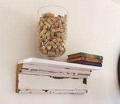 Salvaged Wood Shelves DIY