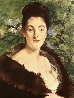 Lady in a fur - Edouard Manet