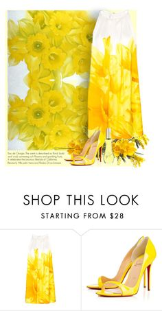 """""""The Daffodils"""" by bb60477 ❤ liked on Polyvore featuring MANGO and Christian Louboutin"""