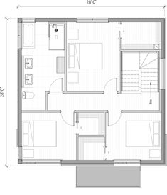 House Layout Design, Small House Design, House Layouts, Minimalist House Design, Minimalist Home, Town House Floor Plan, Small Modern Home, Apartment Plans, 100m