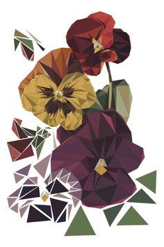 Geometric Nature by Miquel Angel , via Behance