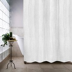 extra long shower curtain at Bed Bath and Beyond I LOVE THE LOOK OF ...